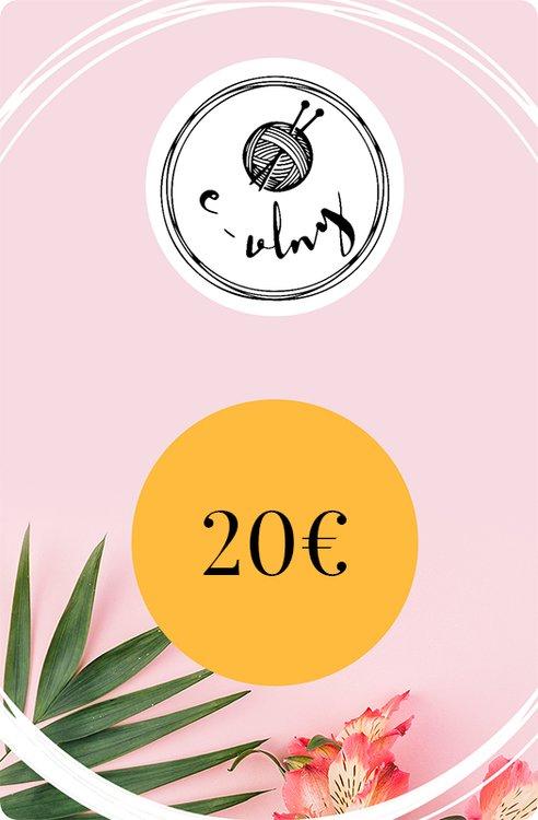 Darčekový poukaz v hodnote 20€  707a03bb1e3